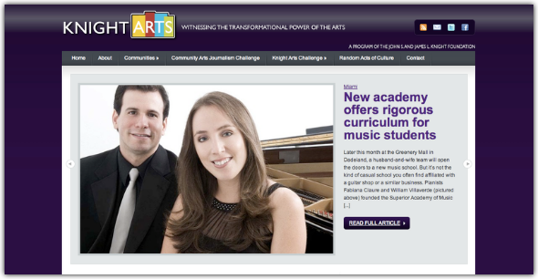Superior Academy of Music article featured in the KnightArts website.
